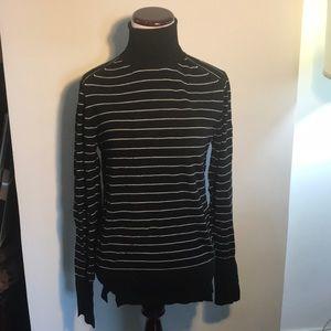 Zara black and white stripped turtleneck